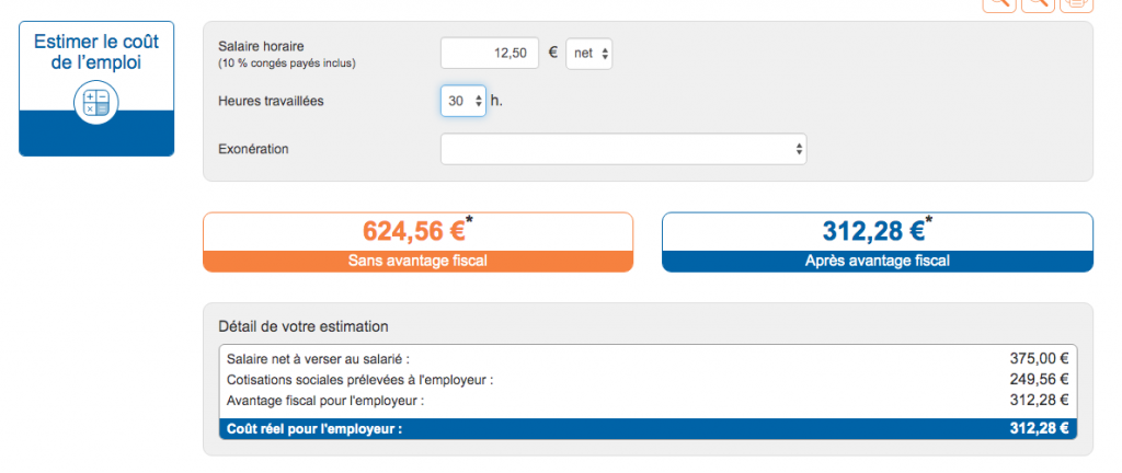 credit impot menage somme